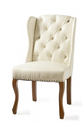 Fotel Obiadowy / Keith II Dining Wing Chair pel Wh