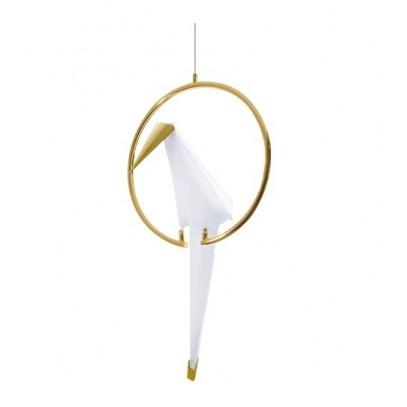 Lampa wisząca LORO 1 CIRCLE złota - LED