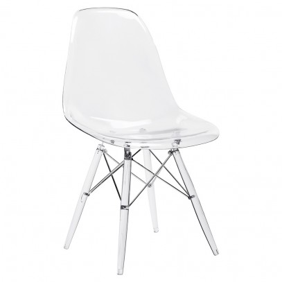 Krzesło DSP ICE transparentne - poliweglan