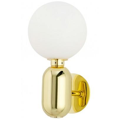 Kinkiet BOY Fi 14 złoty - LED, szkło, metal