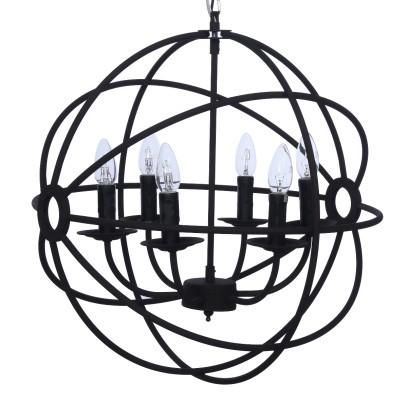 LAMPA WISZĄCA BALL NA 6 ŻARÓWEK 52X52X53 CM