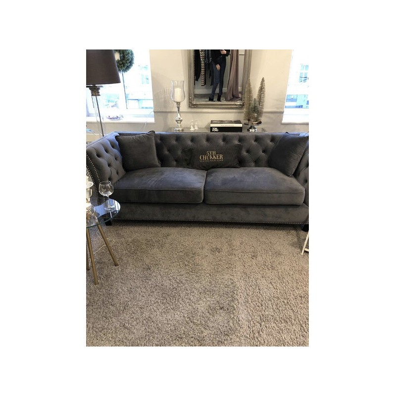 SOFA TAYLOR 3OSOBOWA VELUR LIGHT GREY 229X89X92CM -2106