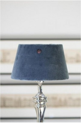 Abażur RM / Velvet Clams Grey Lampshade 15x20 cm