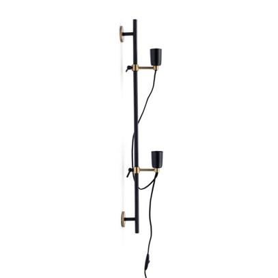 Lampa Ścienna Hoxton 2 Fitting Wall Lamp Black RM-4194