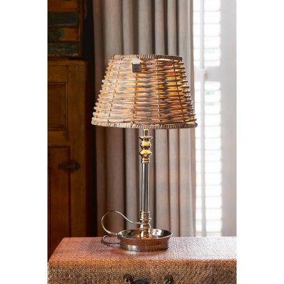 Abażur RM / Colonial Rattan Tapered Lampshade S-731