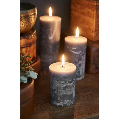 Świeca Grey 7x10 / Rustic Candle Grey 7x10