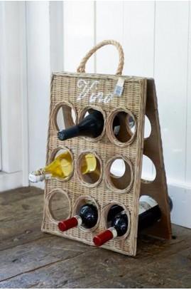Rattanowy Stojak Na Wino / RR Vino Bottle Board