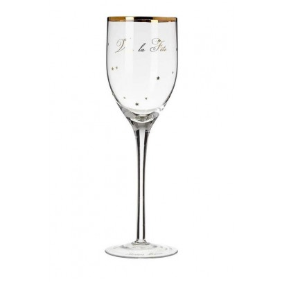 Kieliszek do wina złoty / Vive la Fete Wine Glass-980