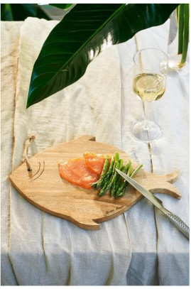 Deska Drewniana Happy Fish Cutting Board