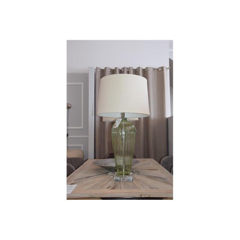 LAMPA STOŁOWA MULBERRY MINT 45x45x85CM SZKŁO ZIEL-2766