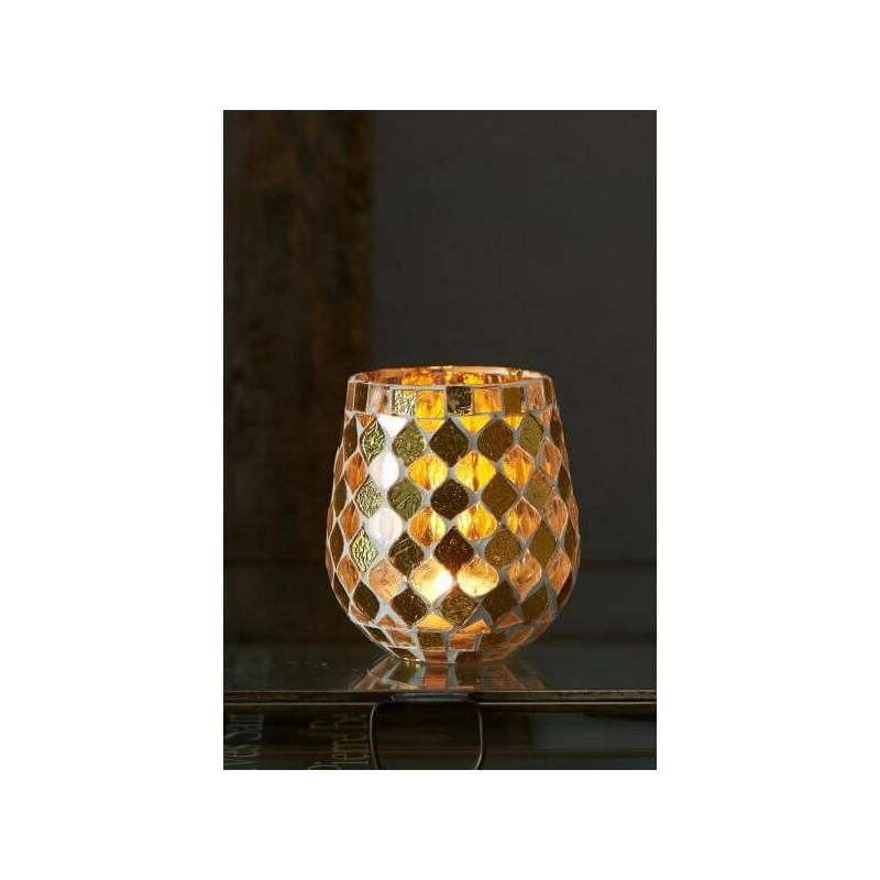 Lampion Złoty Mozaikowy Magic Mosaic S-2698