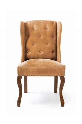 Fotel Obiadowy / Keith Dining Wing Chair pel Tan