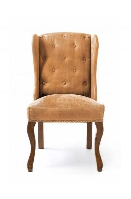 Fotel Obiadowy / Keith Dining Wing Chair pel Tan-1084