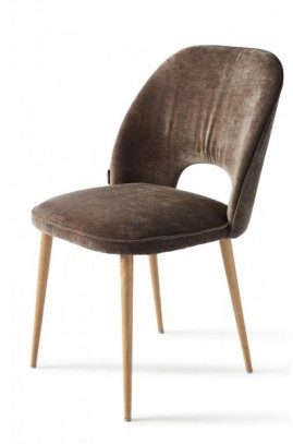 Krzesło RM / Victoria Dining Chair Velvet Brown-2260