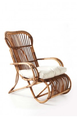 Fotel Hennessy /Hennessy Lounge Chair Natural Grey