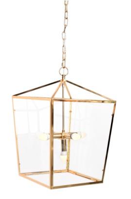 LAMPA WISZ. ALUMBRADO  FRAME GOLD 41x41x61 CM