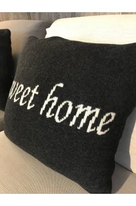 POSZEWKA NA PODUSZKĘ SWEET HOME 45X45 DARK GREY