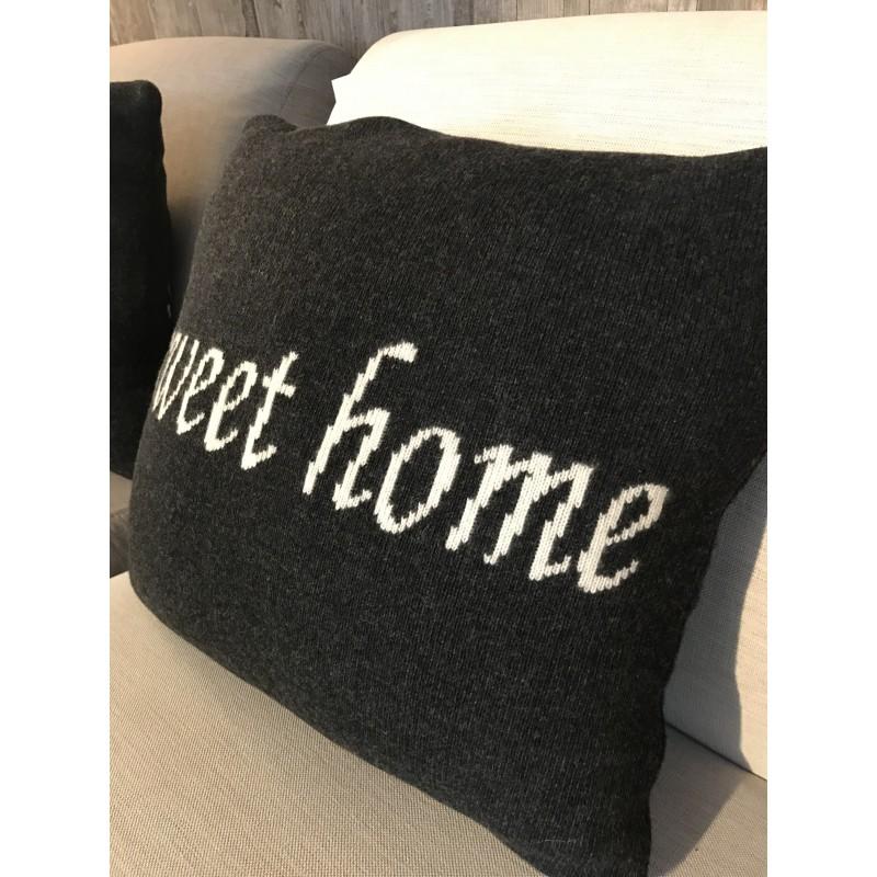 POSZEWKA NA PODUSZKĘ SWEET HOME 45X45 DARK GREY-2429