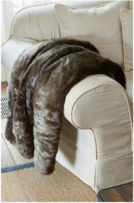 Pled futrzany / Silk Sable Faux Fur Throw 180x130