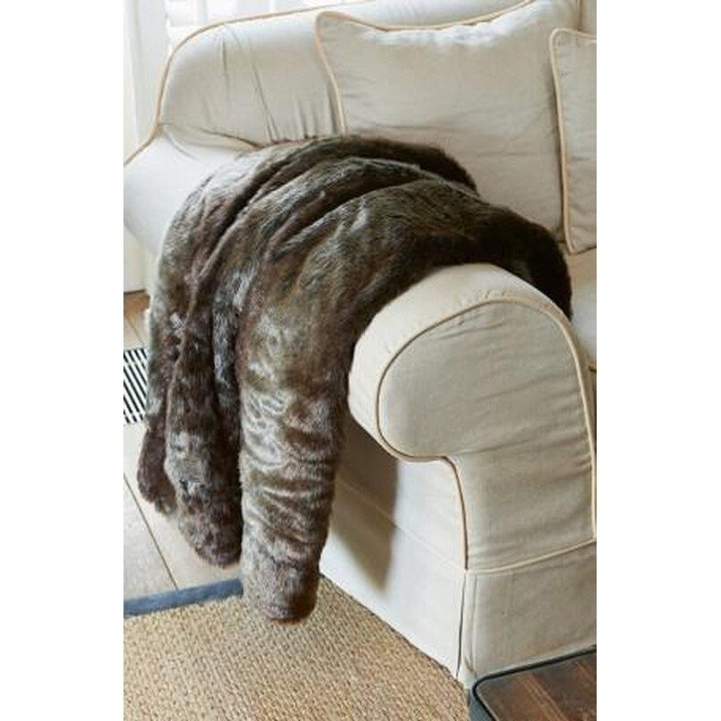 Pled futrzany / Silk Sable Faux Fur Throw 180x130-942