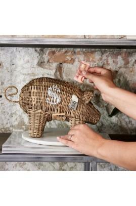 Skarbonka Rattan Piggy Money Saver Riviera Maison