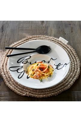 Talerz Buon Appetito Pasta Riviera Maison