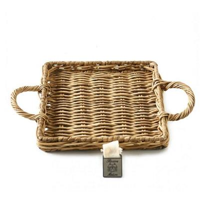 Mini Taca Rattanowa/Rustic Rattan Mini Tray Square-1804