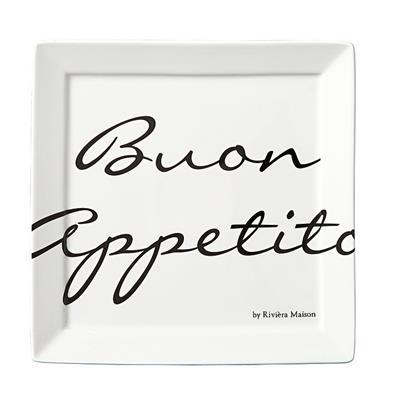 Talerz 18x18 / Buon Appetito Square Plate 18x18-1146