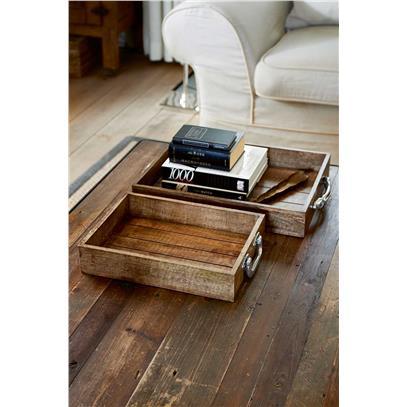 Taca Drewniana Zestaw / Suitcase Serving Tray S/2-962