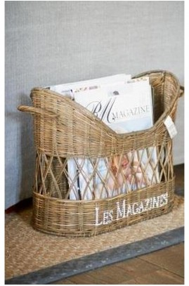 Gazetnik rattanowy / RR French Magazine Holder