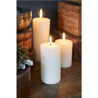 Świeca Ivory 7x13 / Rustic Candle Basic Ivory 7x13-710