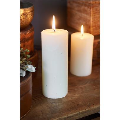 Świeca Ivory 7x18 / Rustic Candle Basic Ivory 7x18