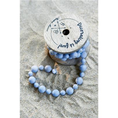 Dekoracja Koraliki Nie/Decoration Beads light blue