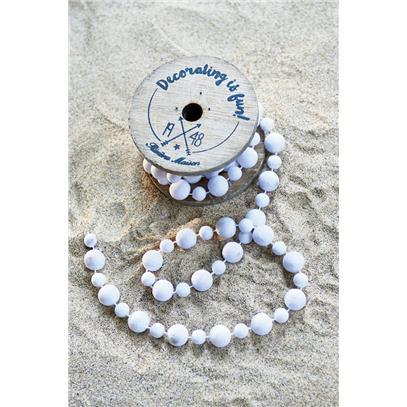 Dekoracja Koraliki Białe / Decoration Beads white-556