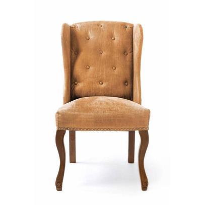 Fotel Obiadowy / Keith Dining Wing Chair pel Tan