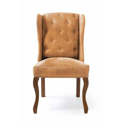 Fotel Obiadowy / Keith Dining Wing Chair pel Tan-1084