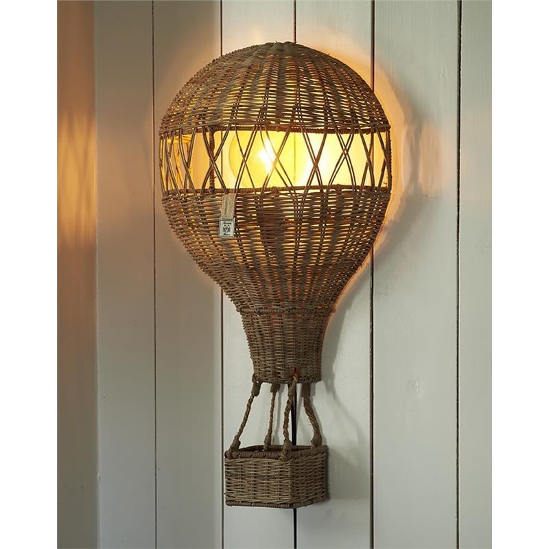Lampa Ścienna BALON Rattanowy-2204