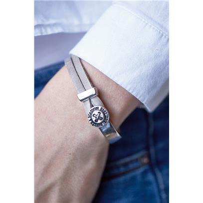 Bransoletka / Sturdy Button Bracelet Sand -1675