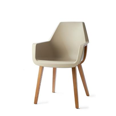 Krzesło / Amsterdam City Dining Armchair Taupe