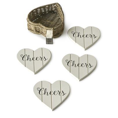 Podkładki Pod Kubki RR Heart Coasters -2274