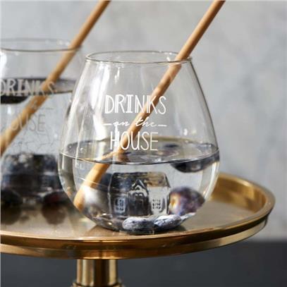 Szklanka DRINKS ON THE HOUSE Riviera Maison