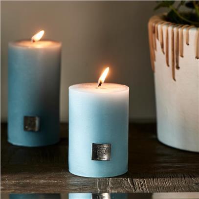 Świeca Blue 7x10 / Rustic Candle Riviera Maison