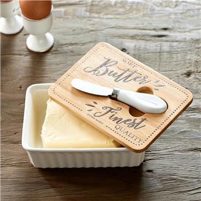 Maselniczka Z Nożem Do Masła Finest Quality Butter-3219