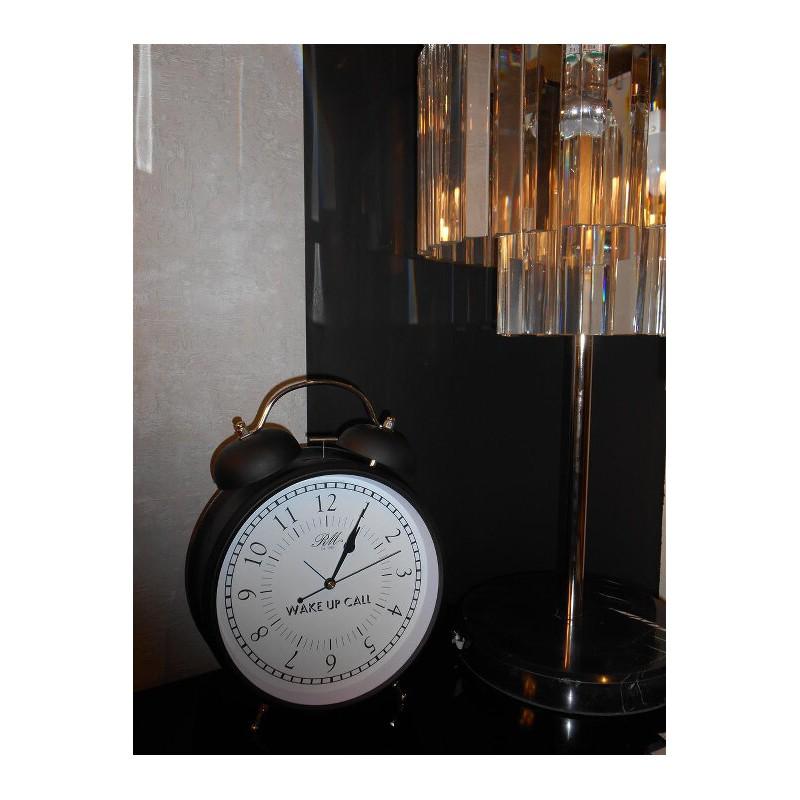 Budzik czarny L / Wake Up Call Alarm Clock L-990