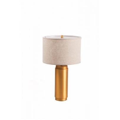 LAMPA STOŁOWA PILLAR METAL MOSIĘŻNA 38X38X63CM -2120