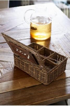 Pojemnik Ratt. Na Herbatę /Rustic Rattan Tea Box M