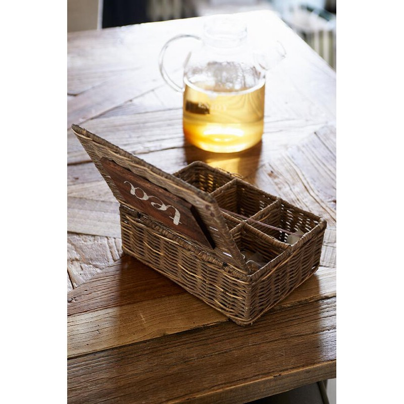 Pojemnik Ratt. Na Herbatę /Rustic Rattan Tea Box M-1329