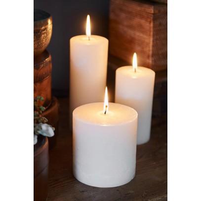 Świeca Ivory 10x10/Rustic Candle Basic Ivory 10x10