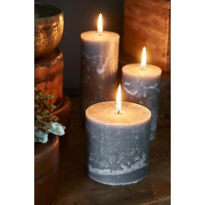 Świeca Grey 10x10 / Rustic Candle Grey 10x10