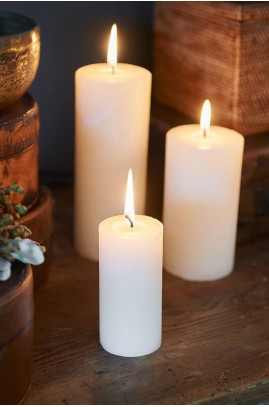 Świeca Ivory 5x10 / Rustic Candle Basic Ivory 5x10